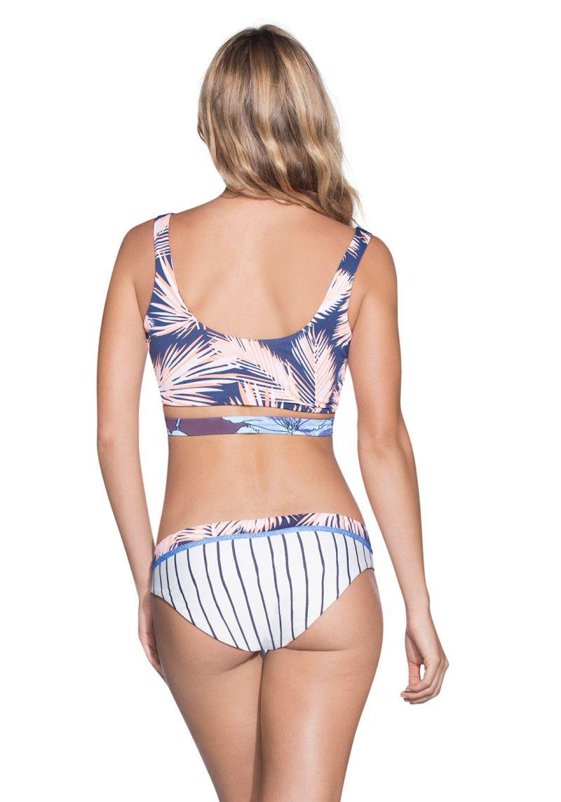 Vändbar bikini tryck/denim - DENIM COLOMBIA