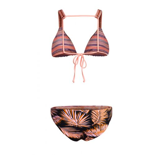 BBS X MAAJI - tryckt sportig bikini - DIVINA PALM