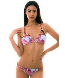 BBS X MAAJI - Bikini triangle sport mix d'imprimés - DIVINA PALM