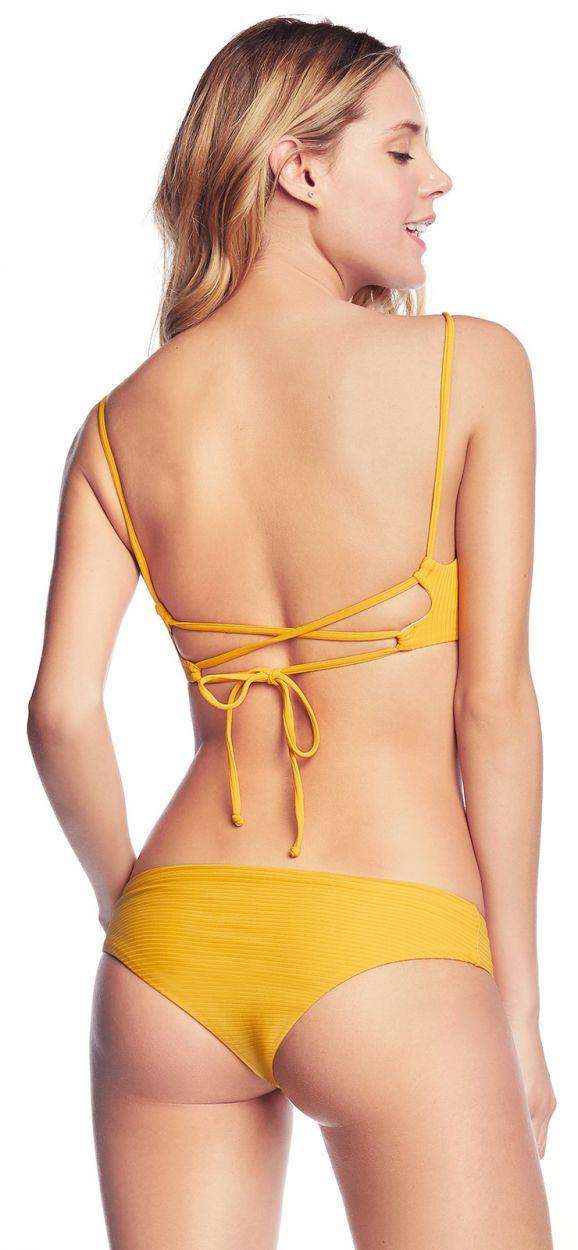 Vändbar, gul bikini - FARRAH´S LOVELY