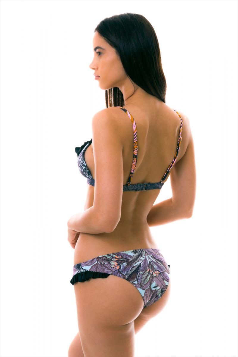 BBS X MAAJI - tryckt bikini med volanger - FRUFRU PALMEIRA