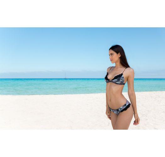 BBS X MAAJI - fırfırlı baskılı bikini - FRUFRU PALMEIRA