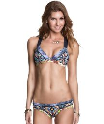 Swimsuit in mixed prints with macramé - GLAM O RAMA