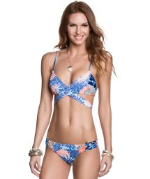 Printed thong bikini and cross-over top - GOLLY WOLLY
