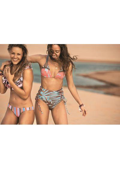 Bikini-bh med volanger och mixat tryck - LARANJA FRILLS