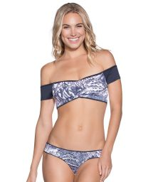 Reversible off-the-shoulder bra bikini - MOONLESS NIGHT