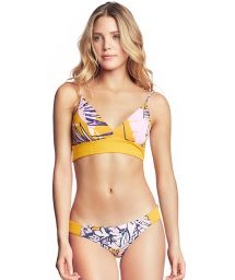 Yellow textured Brazilian bra bikini - SUN BASS SAMBA