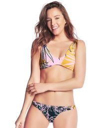 Colorful bikini in floral print with reversible top - SWEET BANANA