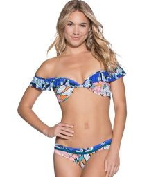 Bardot-neck, mixed-print, balconnet bikini - TAYRONA PARK
