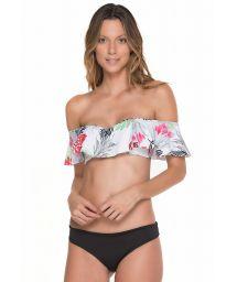 Bandeau style off shoulder floral top - MERRY OFF SHOULDER