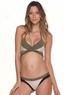 Tricolour bikini with multi-position top - MULTY MANTIS