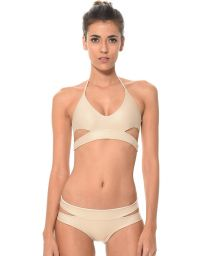 Shiny gold cut-out bikini - SOLSTICE DORADO