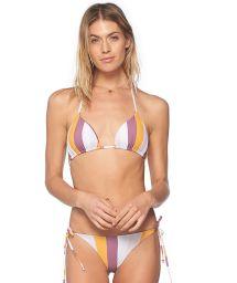 Brasiliansk scrunch-bikini med lila/gula ränder - SUN BANDS BASAL DOLLY