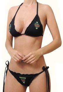 BBS X MAR DE ROSAS - Brasilianischer Crunch-Bikini mit hübschen Volants - ESPIRITU NEGRO