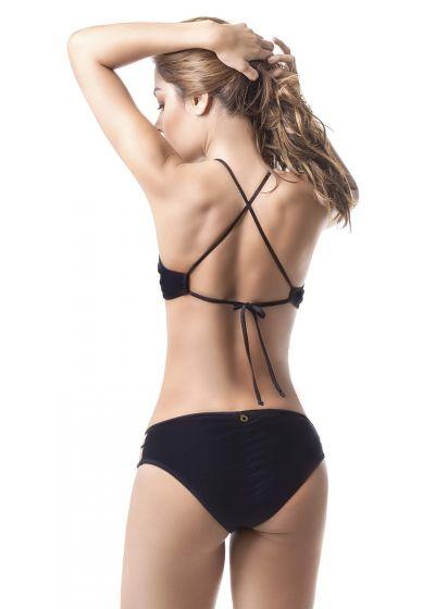 Black strappy crop top bikini - MAR DE CÓNDOR