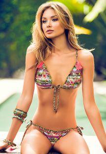 Bikini triángulo original dos atrapasueños - SUENO DEL MAR