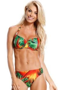 Underwired balconette bikini in tropical print - AGUIA REAL