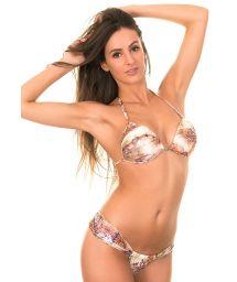 This alluring and feminine Brazilian bikini will show off your voluptuous curves and create a sensual silhouette - BACURI