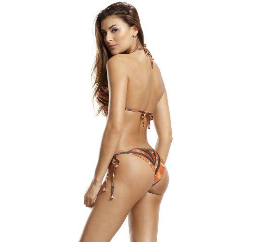 Black & orange triangle bikini - CLASSY LINHAS DE BESOURO