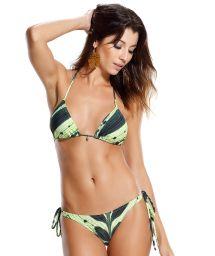 Brasilian Badeanzug, grüne Blattmotive - CORCOVADO