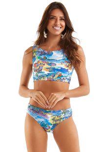 Bikini crop top con stampa Rio de Janeiro - CROPPED AQUARELA RIO