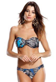 Padded bandeau bikini with a seahorse jewel print - ESCAMA DE PEIXE