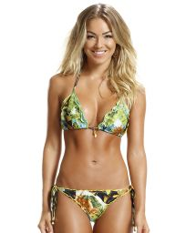 Brazilian scrunch bikini printed in banana leaves - FLIRT BANANA DA TERRA