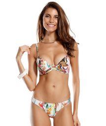 Colourful floral balconette bikini - GRECIA
