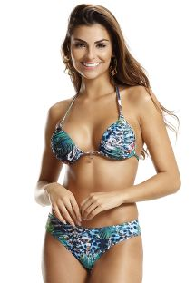 Bikini tropicale con perizoma e top triangolo imbottito - MIX TROPICAL