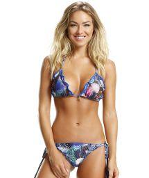 Printed Brazilian scrunch bikini with reversible bottom - OCEANO AQUATICA