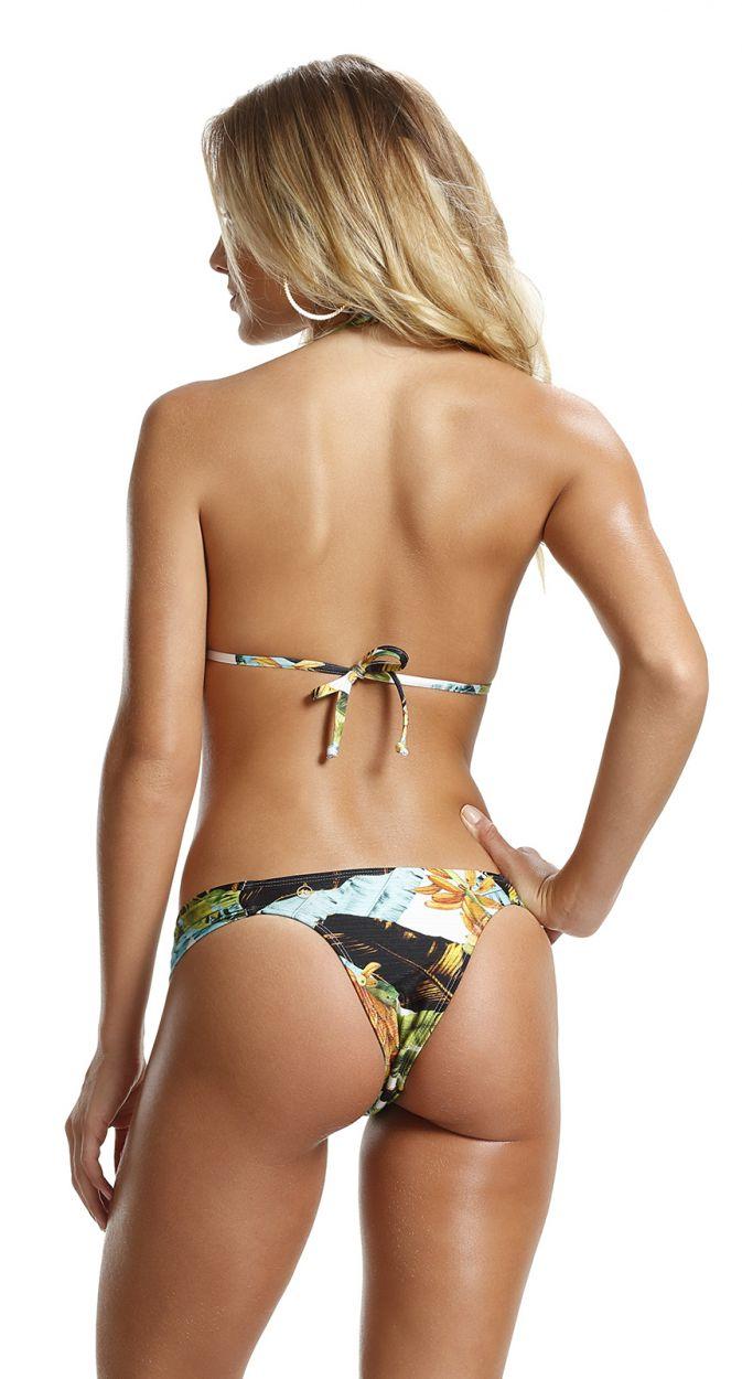 Colorful padded bikini with rhinestones - PARADISE BANANA DA TERRA