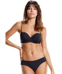 Underwire black balconette bikini - PEIXE LUA