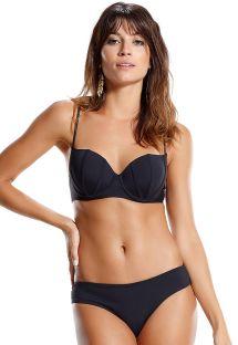 Bikini balconette con Aro negro - PEIXE LUA