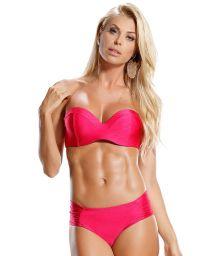 Padded Bandeau Bikini, flashy rosa - ROSA