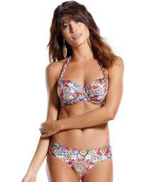 Underwired balconette bikini in colorful print - SINGELA FLOR