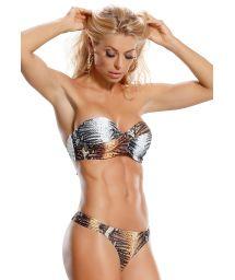 Animal print padded bandeau bikini - TIGRESA