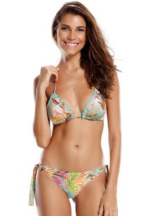Rynkad bikini med virkade detaljer - TROIA