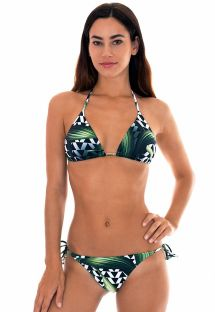 Geometric/leaf-print triangle bikini - AUSTRALIA
