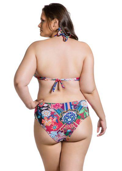 Färggrann bikini, plus storlek, stora kupor - BELLA JARDIM ESCURO PLUS