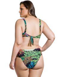Balconnette- bikini, plus storlek, med koralltryck - BELLA PLANTAS PLUS