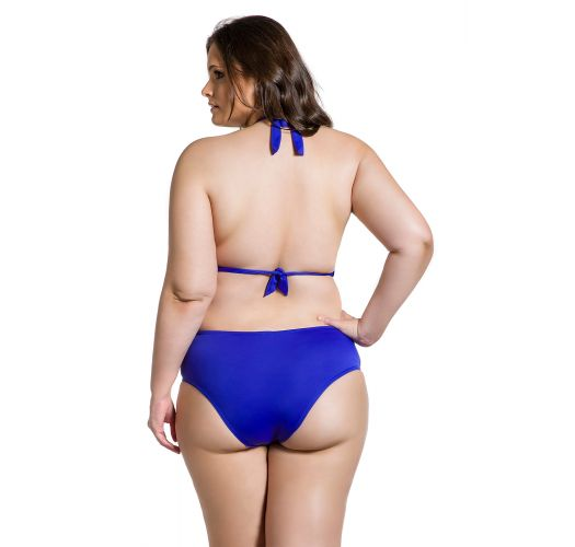 Plus size cobalt blue bikini with underwired balconette top - CLASSIC COBALT PLUS