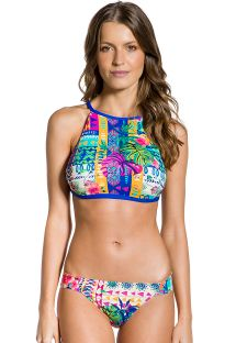 Colorful ethnic strappy crop top bikini - CROPPED ETNICO