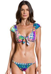 Farbenfroher Bustier-Bikini mit Ethnomuster - ENCANTADOR ETNICO