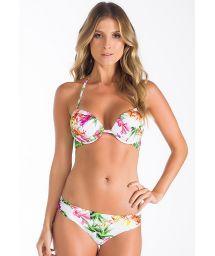White floral underwire pushup bikini - FLOR DO HIMALAIA