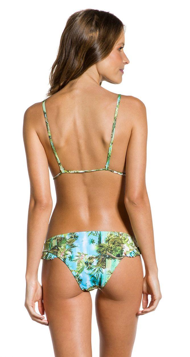 Tropical Brazilian bikini with ruffled edges - FRUFRU PARAISO TROPICAL