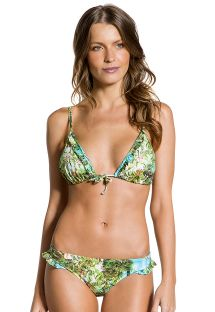Tropical Brazilian bikini with ruffled edges - FRUFRU PARAISO TROPICAL