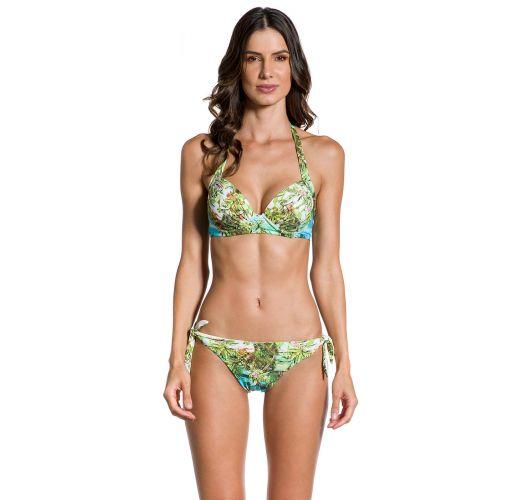 Balconette-Bikini mit Formbügel, Tropenprint - GRACIA PARAISO TROPICAL