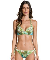 Tropical printed side-tie bikini with underwired top - GRACIA PARAISO TROPICAL