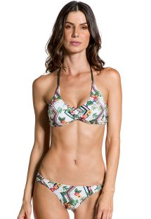 Double-side Brazilian bikini in flowers and graphics - ILHA DE CORAIS