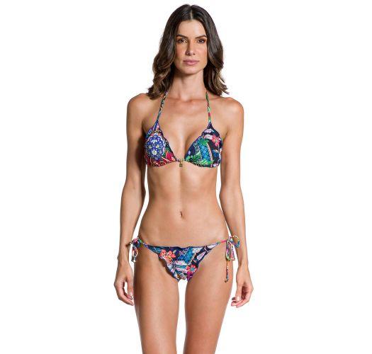 Farbenfroher Scrunch-Bikini, gewellte Ränder - JARDIM ESCURO